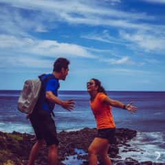 Marco and Fran Trekking in Hawaii