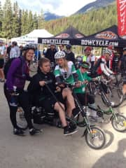 My son Allie on an e-bike, raising funds for nuerological research