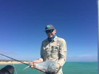 Mike has a true passion for fly-fishing, Fresh and Salt waters.  Giant Trevally, Exmouth, Western Australia