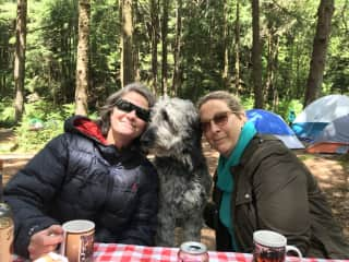 Camping with a couple of my pals, and Lucy