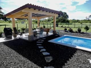 Bohio beside pool