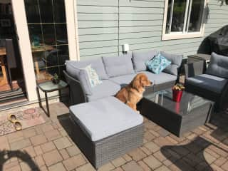 The patio sitting area
