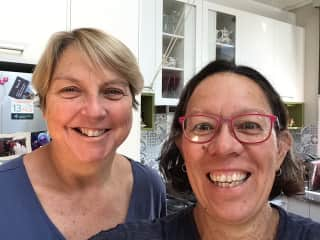 The two Kim's in our kitchen