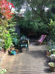 We have two garden benches and seating to laze in the garden