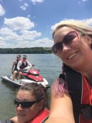 Jet skiing with friends. June 2017