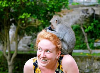 We loved getting up close and personal with the monkeys in Ubud, Bali.