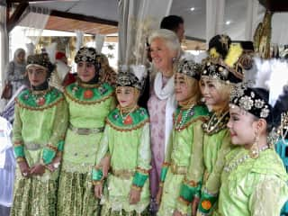 a celebration for completing their studies of the Quran in Ternate, Indonesia