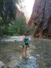 A hike in a river!