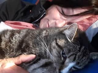 Cuddling with Mitya
