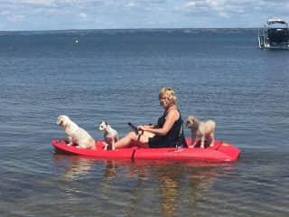 My girls, they go where I go  Nina is the captain always