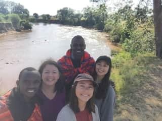 On safari in Kenya with my daughters
