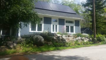 My house with the solar panels