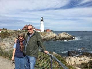 Bill and Cheri in Maine