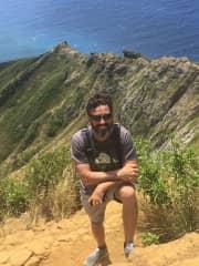 Hiking up the Koko Crater Trail, Oahu, Hawaii