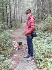 Hiking in the Olympic National Park with Kebab the Gorgi