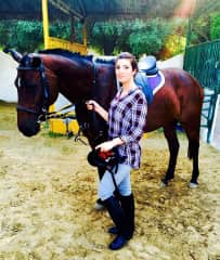 horse riding session in Dubai park