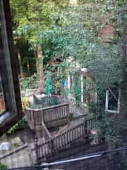 Back deck with rear patio and firepit area.