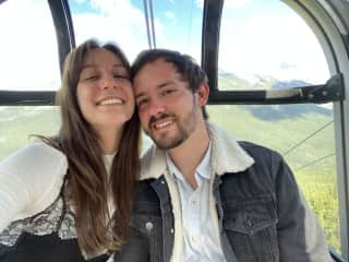 Us on the Banff Gondola!
