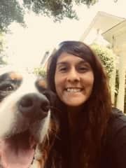 Julia Wyatt the last day of her dog walking job in America!