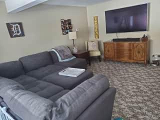 Guest living room, on lower floor.
