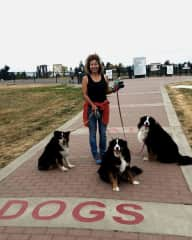 Me with 3 furry friends