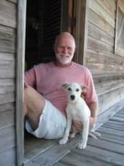 Recently rescued Ollie, in Roatan, Honduras