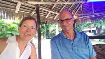 Me and my husband Frank, in Flamingo Costa Rica.  This is where we live.