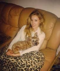 Austen & her beloved dog, Jasmine! She passed away at 19 years old!