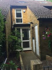 front entrance with small garden
