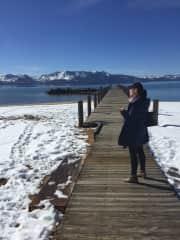 Hanging out at Lake Tahoe