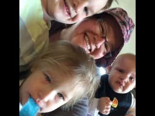 With 1of my nephews & 2 nieces!