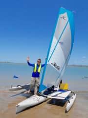 I love sailing in my Hobie island Kayak. I go camping on uninhabbited islands