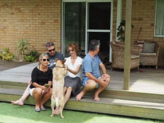 House sitting Pia and Charlie with friends