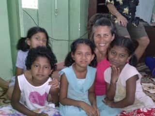 Me visiting an orphanage in Goa, India