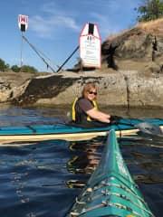 Shari and Greg kayaking in Nanaimo, BC.