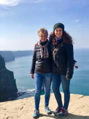 This is a picture of my daughter and me at the Cliffs of Moher in Ireland during a recent trip there. We have traveled to Greece and Africa together, as well.