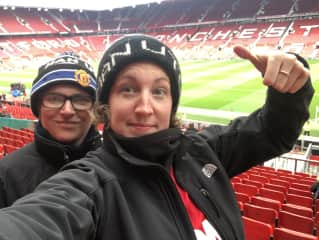 Sophie and I at a Manchester United match