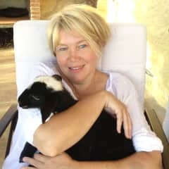 Kathrin and the little lamb, Andalusia