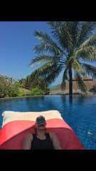 Chilling poolside in Phuket.
