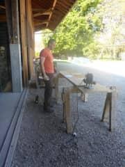 DIY Handyman Thomas doing woodwork and many other maintenance tasks.