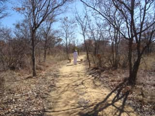 With Storm and India in the bush at Ama Amanzi Bush Lodge South Afrika 2018
