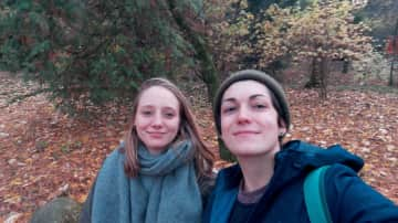 Rici and me in the nature in Romania