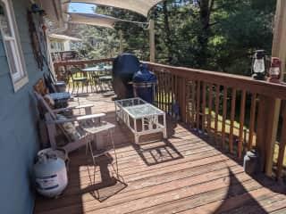 Great deck facing west