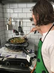 Taking a paella class in Granada, Spain!