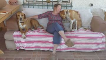 Holly, me and Roger, La Romana, Spain (May/June 2016)