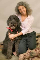 Francine and I. My long dream of having a Standard Poodle as a friend. We had her for 14 years!