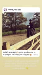 This is a video of me horse riding. Unfortunately, my phone with most of my older pics is not working.