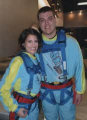 Sky Jump with family friend at Stratosphere in Las Vegas, NV