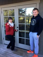 Michele and my youngest when I purchased my home on Orcas Island