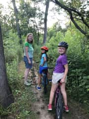 We are often walking and riding bikes together.